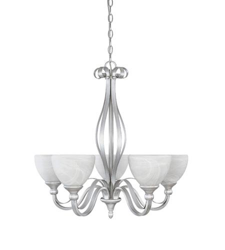 Designers Fountain Del Amo 5 Light Chandelier in Matte Pewter 82885-MTP photo