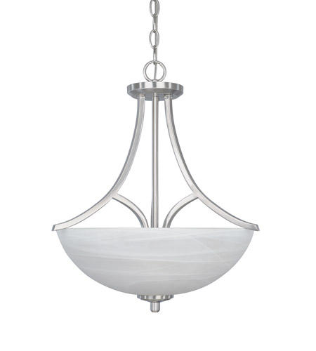 Designers Fountain Tackwood 3 Light Pendant in Satin Platinum 82931-SP photo