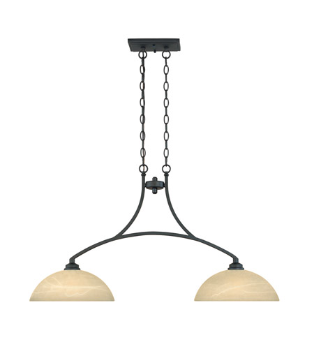 Designers Fountain 82938-BNB Tackwood 2 Light 38 inch Burnished Bronze Island Pendant Ceiling Light in Tea Stained Alabaster photo
