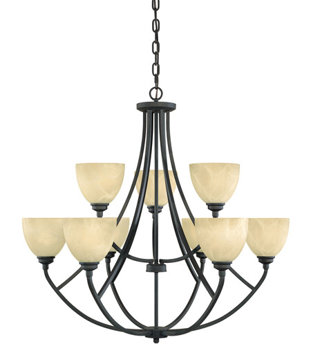 Designers Fountain Tackwood 9 Light Chandelier in Burnished Bronze 82989-BNB photo