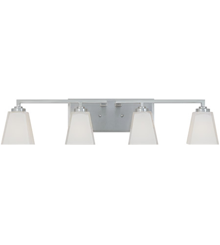 Designers Fountain Avanti 4 Light Bath Vanity in Satin Platinum 83004-SP photo