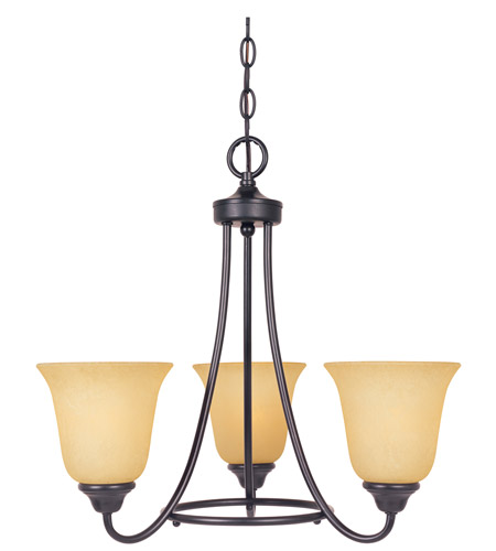 Designers Fountain 83383-ORB Madison 3 Light 20 inch Oil Rubbed Bronze Chandelier Ceiling Light photo