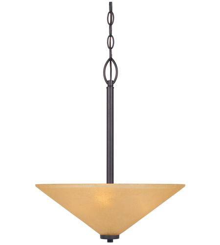 Designers Fountain 83531-ORB Arcadia 3 Light 120 Oil Rubbed Bronze Pendant Ceiling Light in Goldenrod photo