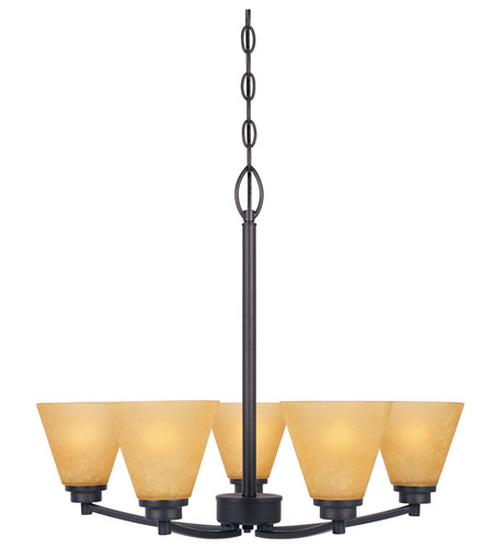 Designers Fountain Arcadia 5 Light Chandelier in Oil Rubbed Bronze 83585-ORB photo