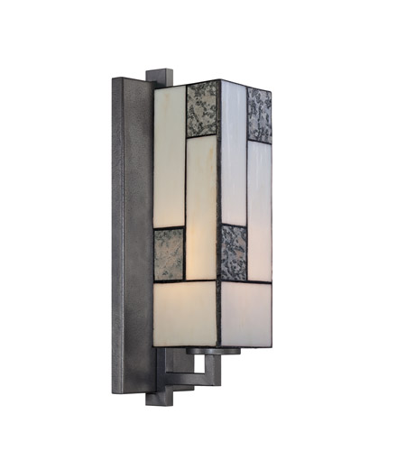 Designers Fountain 84101-CHA Bradley 1 Light 5 inch Charcoal Wall Sconce Wall Light photo