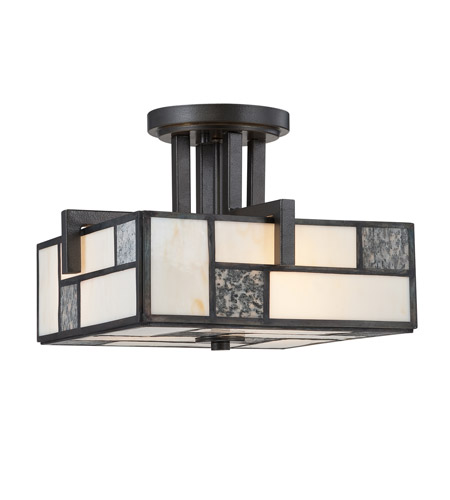 Designers Fountain 84111-CHA Bradley 3 Light 120 Charcoal Semi-Flush Ceiling Light photo