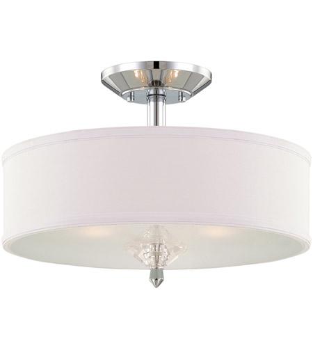 designers fountain 84211ch palatial 3 light 120 chrome semiflush ceiling light