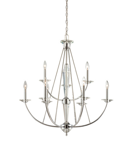 Designers Fountain Palatial 9 Light Chandelier in Chrome 84289-CH photo