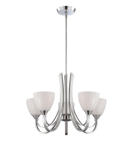 Designers Fountain 84685-CH Cortona 5 Light 26 inch Chrome Chandelier Ceiling Light photo