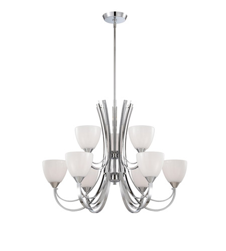 Designers Fountain Cortona 9 Light Chandelier in Chrome 84689-CH photo