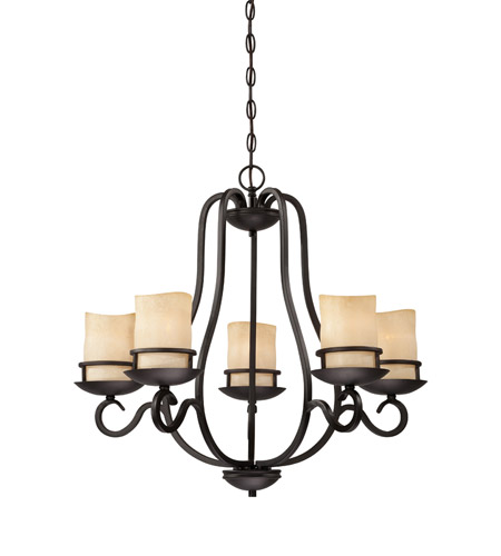 Designers Fountain Lauderhill 5 Light Chandelier in Natural Iron 84785-NI photo