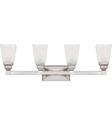 Designers Fountain Trenton 4 Light Bath Bar in Satin Nickel 84904-SN photo