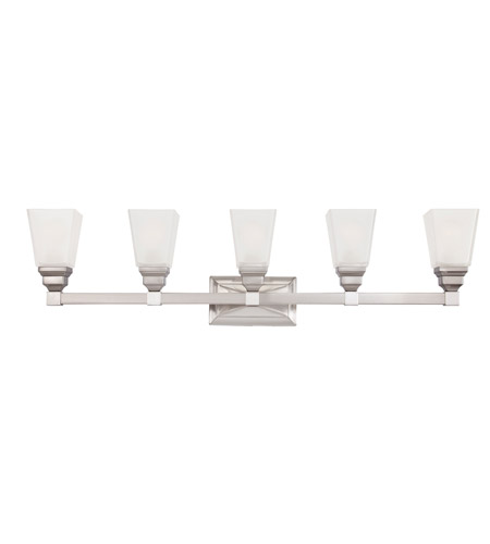 Designers Fountain 84905-SN Trenton 5 Light 38 inch Satin Nickel Bath Bar Wall Light 84905-SN.jpg