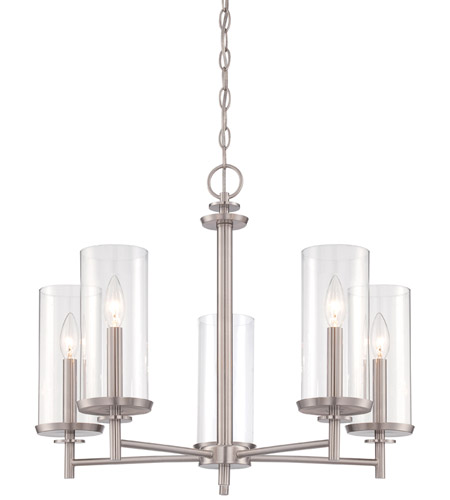 Designers Fountain 87285 Sp Harlowe 5 Light 25 Inch Satin Platinum Chandelier Ceiling