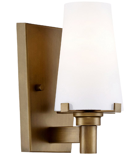 Wonderful Designers Fountain 87901 VTG Hyde Park 1 Light 5 Inch Vintage Gold Wall  Sconce Wall Light In Opal
