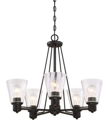 Designers Fountain 88085 Orb Printers Row 5 Light 24 Inch Oil Rubbed Bronze Chandelier Ceiling