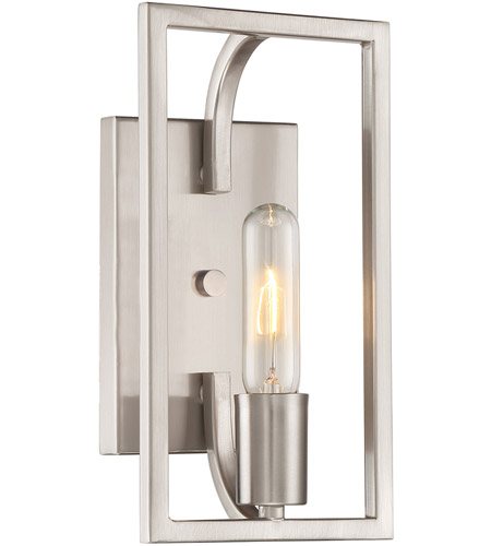 Designers Fountain 88401-SP Uptown 1 Light 6 inch Satin Platinum Wall Sconce Wall Light