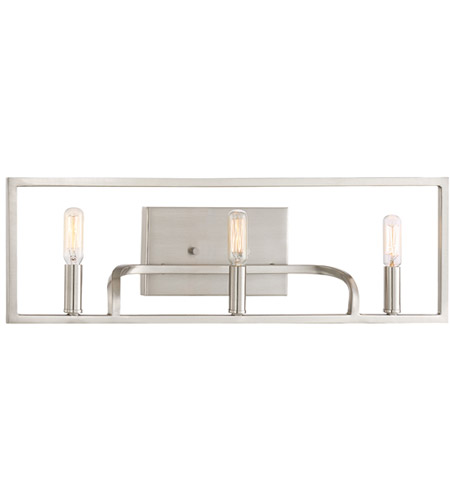 Designers Fountain 88403-SP Uptown 3 Light 24 inch Satin Platinum Bath Vanity Wall Light
