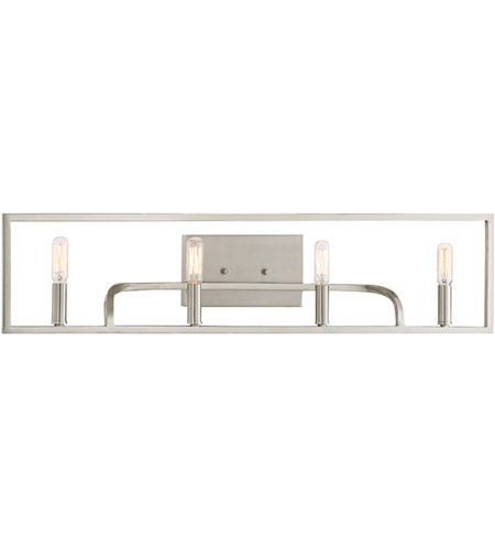 Designers Fountain 88404-SP Uptown 4 Light 32 inch Satin Platinum Bath Vanity Wall Light