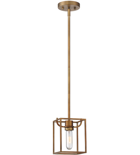 Designers Fountain 88430-OSB Uptown 1 Light 6 inch Old Satin Brass Mini-Pendant Ceiling Light