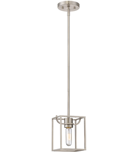 Designers Fountain 88430-SP Uptown 1 Light 6 inch Satin Platinum Mini-Pendant Ceiling Light