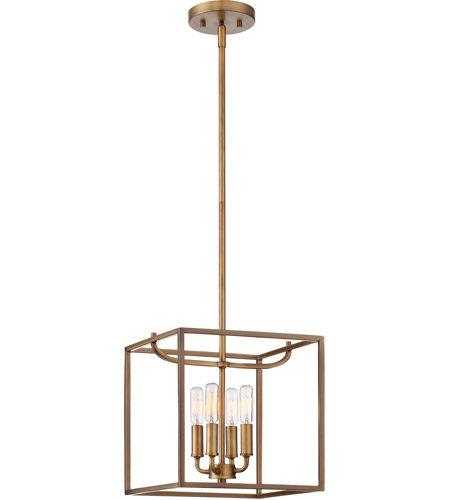 Designers Fountain 88454-OSB Uptown 4 Light 11 inch Old Satin Brass Foyer Ceiling Light