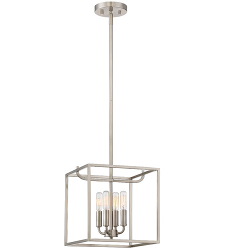 Designers Fountain 88454-SP Uptown 4 Light 11 inch Satin Platinum Foyer Ceiling Light