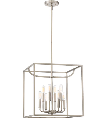 Designers Fountain 88458-SP Uptown 8 Light 17 inch Satin Platinum Foyer Ceiling Light