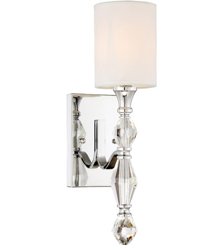 designers fountain 89901 ch evi 1 light 7 inch chrome bath sconce wall light
