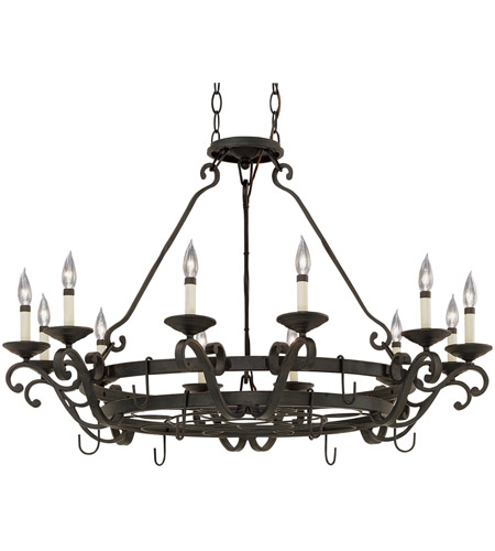 Designers Fountain Barcelona 12 Light Chandelier in Natural Iron 9031-NI photo