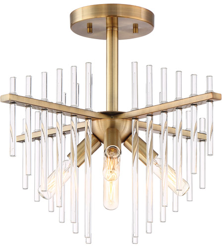 designers fountain 90411bab reeve 4 light 17 inch burnished antique brass semiflush ceiling light