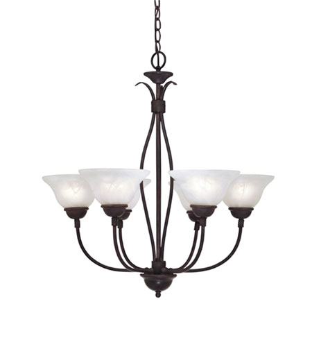 Designers Fountain Vista 6 Light Chandelier in Natural Iron 90706-NI