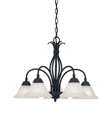 Designers Fountain Vista 5 Light Chandelier in Natural Iron 9075-NI