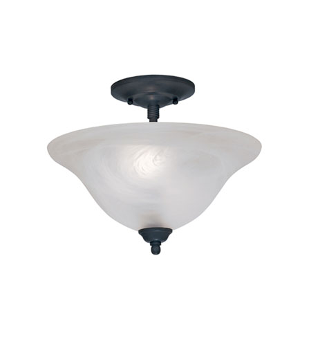 Designers Fountain Vista 2 Light Semi-Flush in Natural Iron 9076-NI