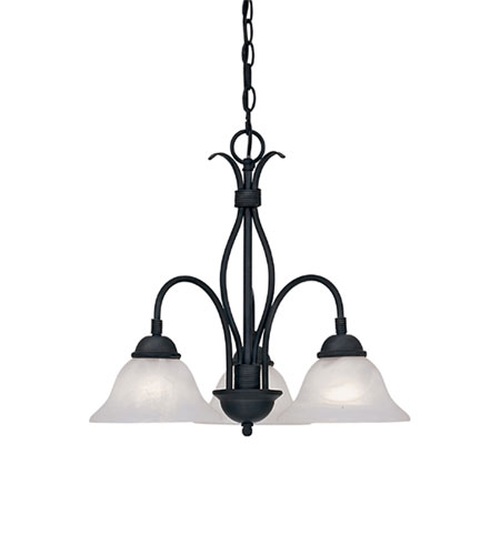 Designers Fountain Vista 3 Light Chandelier in Natural Iron 9078-NI