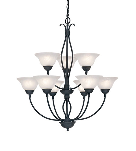 Designers Fountain Vista 9 Light Chandelier in Natural Iron 9079-NI