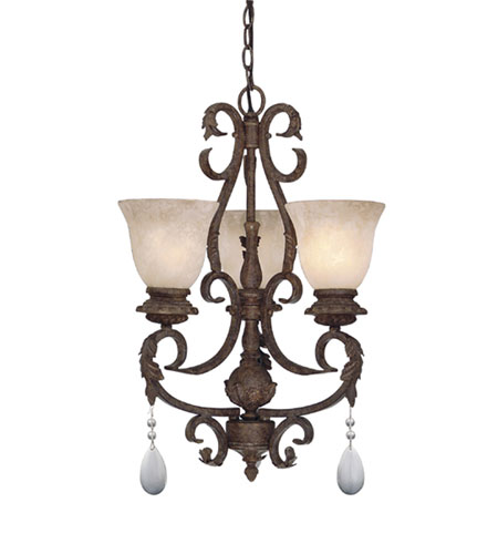 Designers Fountain San Mateo 3 Light Chandelier in Ancient Oak 91403-AO photo