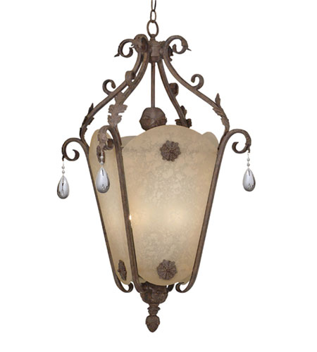 Designers Fountain 9147-AO San Mateo 4 Light 18 inch Ancient Oak Hall & Foyer Ceiling Light photo