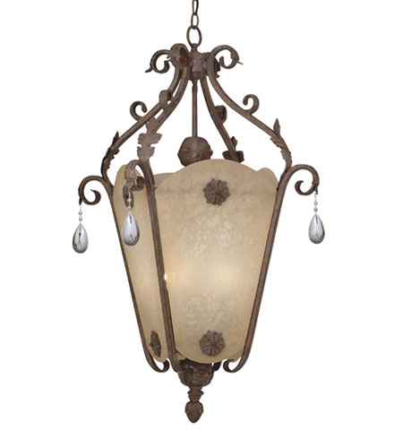 Designers Fountain San Mateo 6 Light Hall & Foyer in Ancient Oak 9148-AO photo