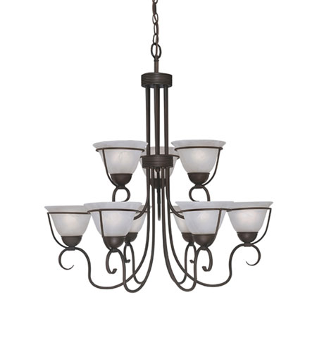 Designers Fountain Galleria 9 Light Chandelier in Oil Rubbed Bronze 9179-ORB photo