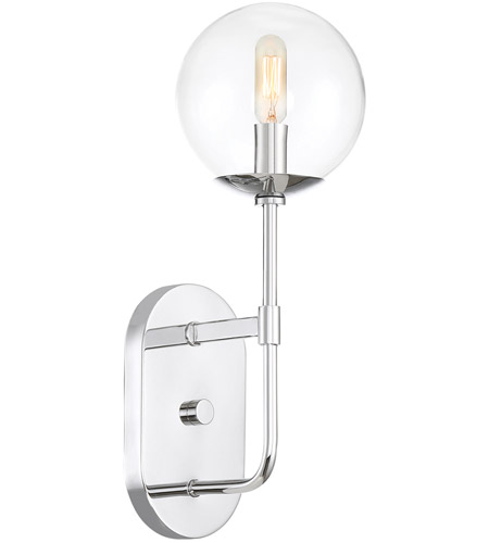 Designers Fountain 92001-CH Welton 1 Light 6 inch Chrome Wall Sconce Wall Light