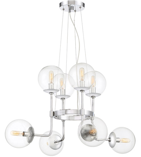Designers Fountain 92088-CH Welton 8 Light 30 inch Chrome Chandelier Ceiling Light