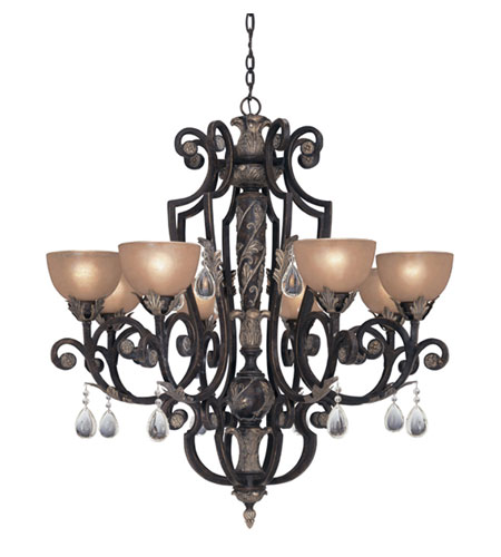 Designers Fountain Delphi 8 Light Chandelier in Sierra 9218-SE photo