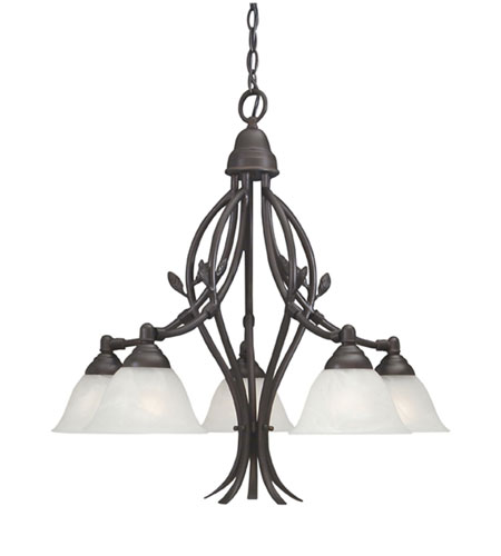 Designers Fountain Garland 5 Light Chandelier in Oil Rubbed Bronze 9286-ORB photo