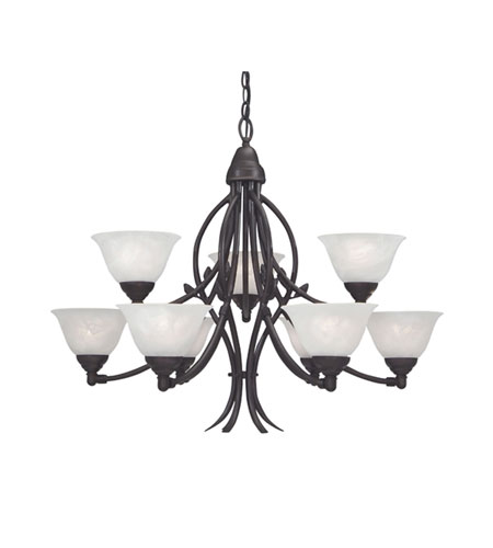 Designers Fountain Garland 9 Light Chandelier in Oil Rubbed Bronze 9289-ORB photo