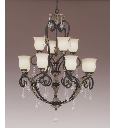 Designers Fountain Windsor Heights 12 Light Chandelier in Sable 92912-SL