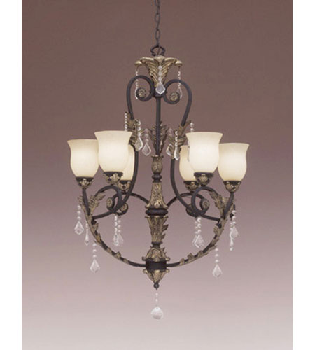 Designers Fountain Windsor Heights 6 Light Chandelier in Sable 9296-SL