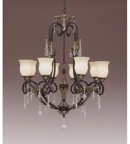 Designers Fountain Windsor Heights 8 Light Chandelier in Sable 9298-SL
