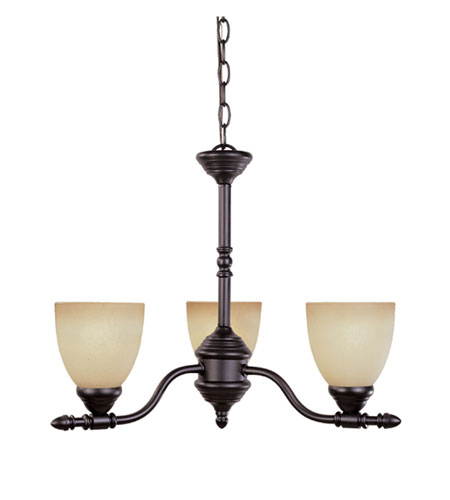 Designers Fountain Apollo 3 Light Chandelier in Oil Rubbed Bronze 94083-ORB photo