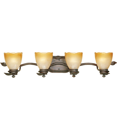 Designers Fountain 95604-OB Timberline 4 Light 34 inch Old Bronze Bath Bar Wall Light photo